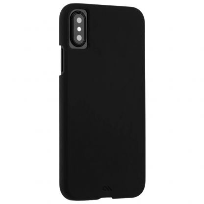 CaseMate Barely There - поликарбонатов кейс за iPhone XS, iPhone X (черен)