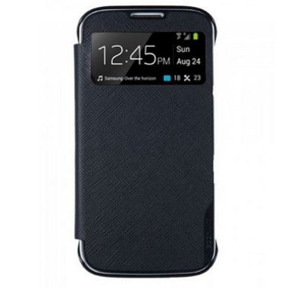 Made for Samsung View Book Case - кожен калъф за Samsung Galaxy S4 mini (черен)