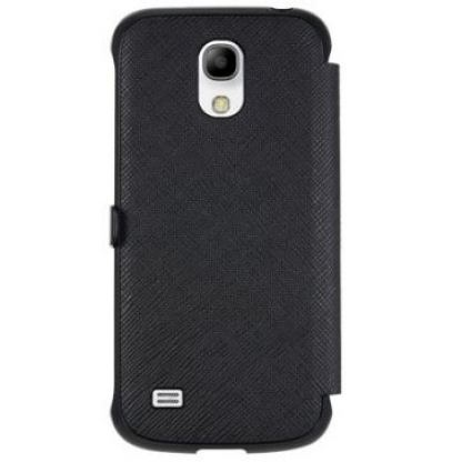 Made for Samsung View Book Case - кожен калъф за Samsung Galaxy S4 mini (черен) 2