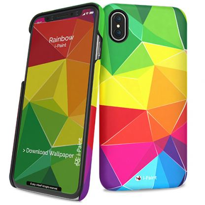 iPaint Rainbow HC Case - дизайнерски поликарбонатов кейс за iPhone X