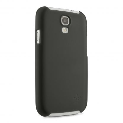 Belkin Shield Sheer Matte - поликарбонатов кейс за Samsung Galaxy S4  (черен) 2
