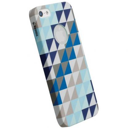 Krusell PrintCover Blue Triangle - поликарбонатов кейс за iPhone 5