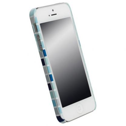 Krusell PrintCover Blue Square - поликарбонатов кейс за iPhone 5 2