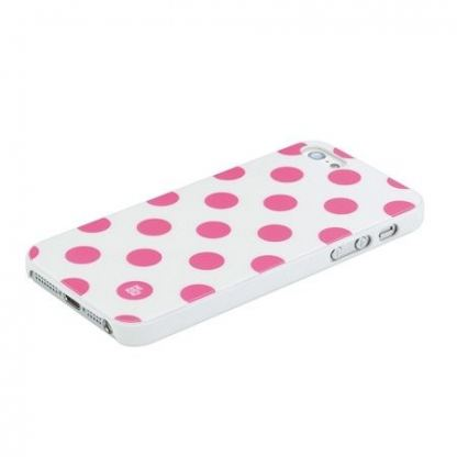 Pat Says Now Pink Polka Dot Case - дизайнерски кейс за iPhone 5 2