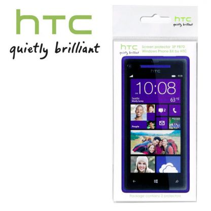 HTC SP P870 Screen Protector - защитно покритие за HTC Windows Phone 8X (два броя) 2