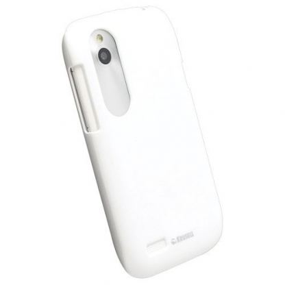 Krusell ColorCover - поликарбонатов кейс за HTC Desire X, Desire V (бял)