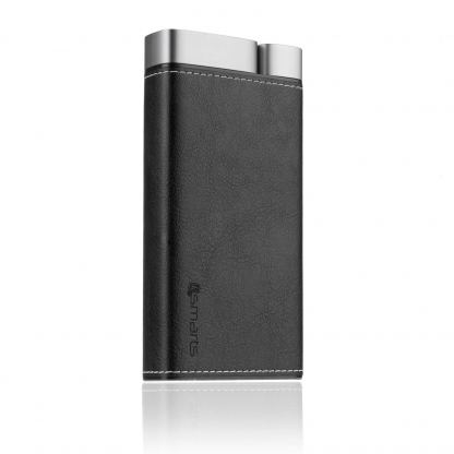 4smarts Power Bank VoltHub Leatherette 20000 mAh - външна батерия с два USB и USB-C изходи (черен) 6