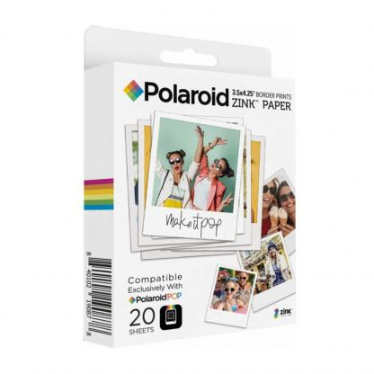 Polaroid Zink Media - фотохартия Zink 3x4 инча за Polaroid POP Instant Camera (20 пакета)