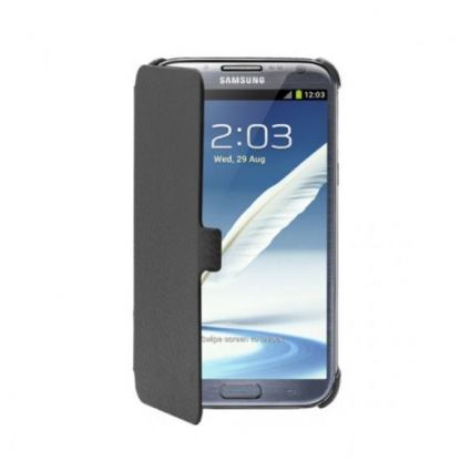 Samsung Etui Diary Case - кожен кейс за Samsung Galaxy Note 2 N7100 (черен)