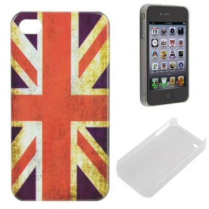 Retro Style Faceplate UK 2.0 - поликарбонатов кейс за iPhone 4/4S 2