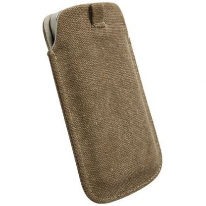 Krusell Uppsala Mobile Pouch 3XL - кожен калъф за Samsung Galaxy S4, HTC ONE, Sony Xperia V и др. (кафяв) 2