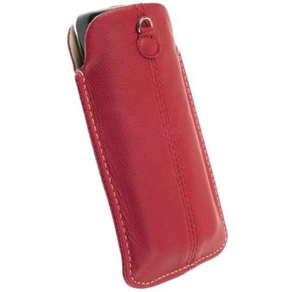 Krusell LUNA POUCH 3XL - кожен калъф за HTC Sensation XL, HTC One X, Galaxy S3, Galaxy Nexus и др. (червен) 2