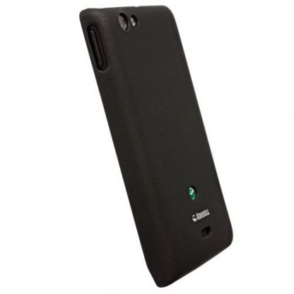 Krusell ColorCover - поликарбонатов кейс за Sony Xperia Miro (черен)