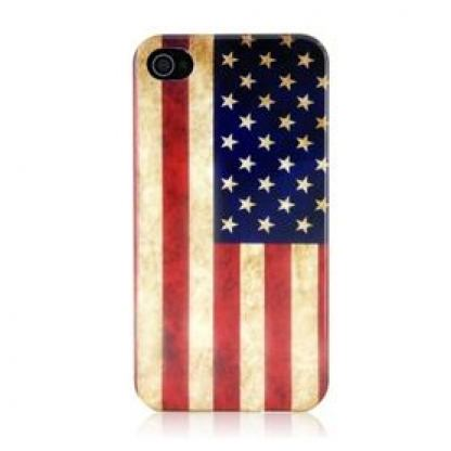 Retro Style Faceplate US - поликарбонатов кейс за iPhone 4/4S