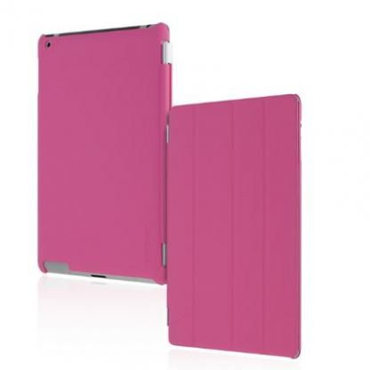 Incipio Smart Feather - кейс  за iPad 4, iPad 3, iPad 2 (съвместим с Apple Smart cover) - розов