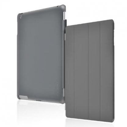 Incipio Smart Feather - кейс  за iPad 4, iPad 3, iPad 2 (съвместим с Apple Smart cover) - тъмносив