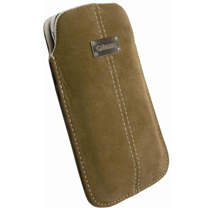 Krusell Luna Pouch XXL - leather case for HTC Sensation, Galaxy S2, LG Optimus and mobile phones (кафяв)