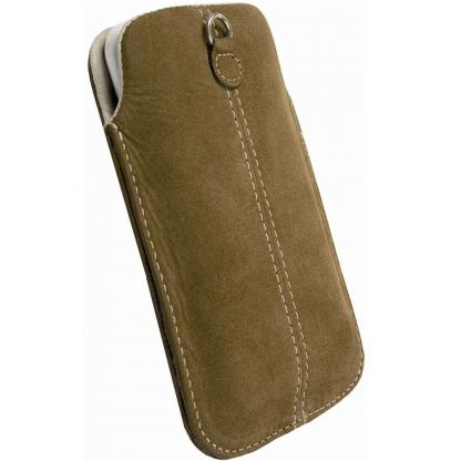 Krusell Luna Pouch XXL - leather case for HTC Sensation, Galaxy S2, LG Optimus and mobile phones (кафяв) 2