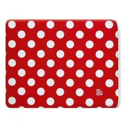 Pat Says Now Pouch Red Polka Dot  - неопренов калъф за iPad 3 (новият iPad), iPad 2