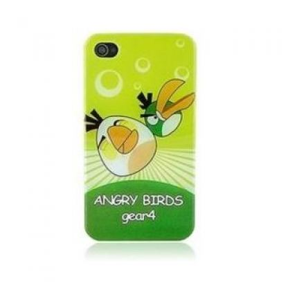 Faceplate Green Angry Birds - поликарбонатов кейс за iPhone 4