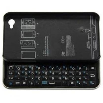 Slide Bluetooth QWERTY Keyboard - кейс и клавиатура в едно за iPhone 4/4S (черен)