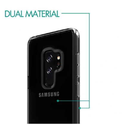 Skech Crystal Case - силиконов TPU калъф за Samsung Galaxy S9 plus (прозрачен) 4