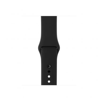 Apple 42mm Sport Band S/M & M/L - оригинална силиконова каишка за Apple Watch 42мм (черен) (Apple Box) (reconditioned) 2