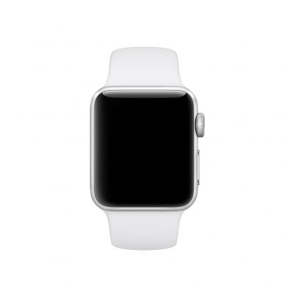 Apple 38mm Sport Band S/M & M/L - оригинална силиконова каишка за Apple Watch 38мм (бял) (Apple Box) 2