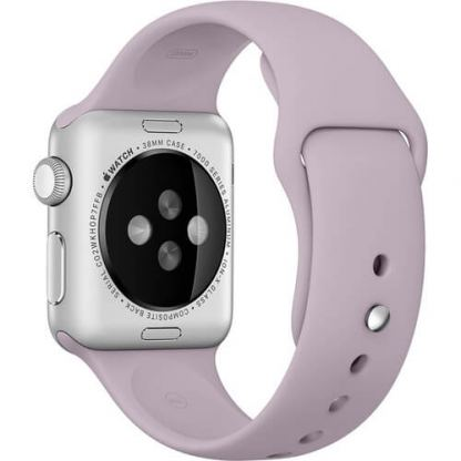 Apple 38mm Sport Band S/M & M/L - оригинална силиконова каишка за Apple Watch 38мм (лавандула) (reconditioned) (Apple Box)