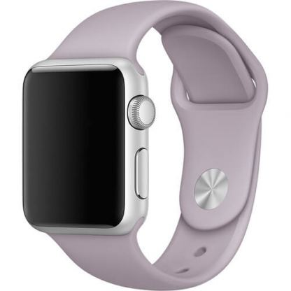Apple 38mm Sport Band S/M & M/L - оригинална силиконова каишка за Apple Watch 38мм (лавандула) (reconditioned) (Apple Box) 2