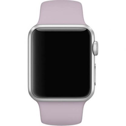 Apple 38mm Sport Band S/M & M/L - оригинална силиконова каишка за Apple Watch 38мм (лавандула) (reconditioned) (Apple Box) 4