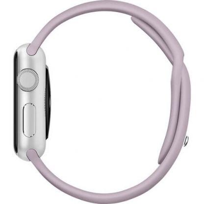 Apple 38mm Sport Band S/M & M/L - оригинална силиконова каишка за Apple Watch 38мм (лавандула) (reconditioned) (Apple Box) 5