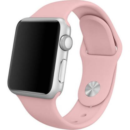 Apple 38mm Sport Band S/M & M/L - оригинална силиконова каишка за Apple Watch 38мм (бледа роза) (Apple Box)