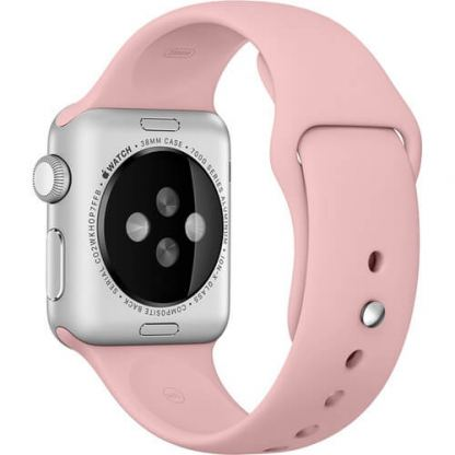 Apple 38mm Sport Band S/M & M/L - оригинална силиконова каишка за Apple Watch 38мм (бледа роза) (Apple Box) 2