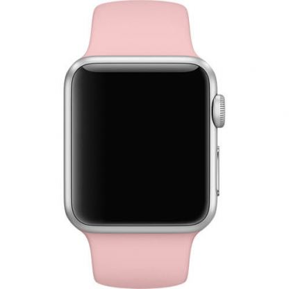 Apple 38mm Sport Band S/M & M/L - оригинална силиконова каишка за Apple Watch 38мм (бледа роза) (Apple Box) 4