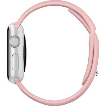 Apple 38mm Sport Band S/M & M/L - оригинална силиконова каишка за Apple Watch 38мм (бледа роза) (Apple Box) 5