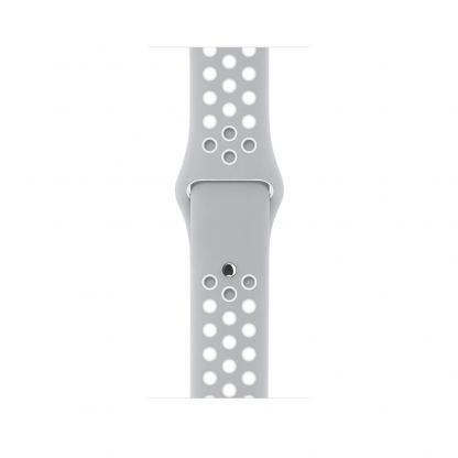 Apple Watch Nike+ 38mm Sport Band - оригинална силиконова каишка за Apple Watch 38мм (сив-бял) (reconditioned) (Apple Box) 4
