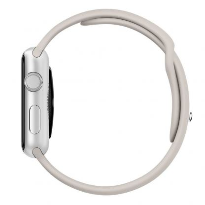 Apple 38mm Sport Band S/M & M/L - оригинална силиконова каишка за Apple Watch 38мм (сив) (reconditioned) (Apple Box) 2