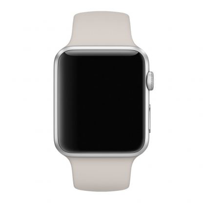Apple 38mm Sport Band S/M & M/L - оригинална силиконова каишка за Apple Watch 38мм (сив) (reconditioned) (Apple Box) 3