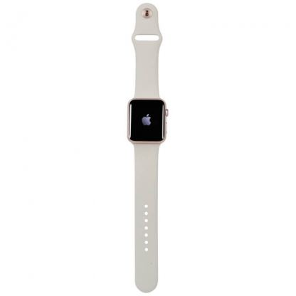 Apple 38mm Sport Band S/M & M/L - оригинална силиконова каишка за Apple Watch 38мм (сив) (reconditioned) (Apple Box) 6
