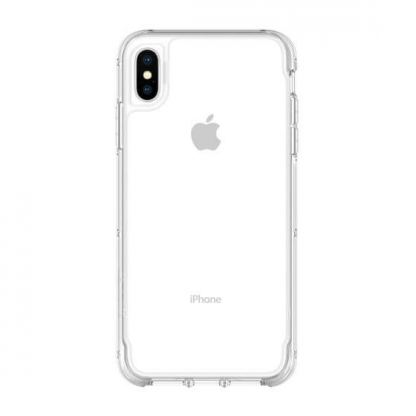 Griffin Survivor Clear Case - хибриден удароустойчив кейс за iPhone XS Max (прозрачен) 2