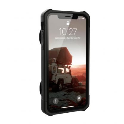 Urban Armor Gear Trooper Case - удароустойчив хибриден кейс с отделение за карти за iPhone XR (черен) 5