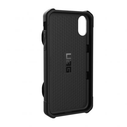 Urban Armor Gear Trooper Case - удароустойчив хибриден кейс с отделение за карти за iPhone XR (черен) 6