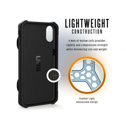 Urban Armor Gear Trooper Case - удароустойчив хибриден кейс с отделение за карти за iPhone XR (черен) 10