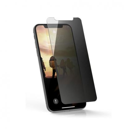 Urban Armor Gear Privacy Glass Screen Protector - калено стъклено защитно покритие за дисплея на iPhone XS, iPhone X