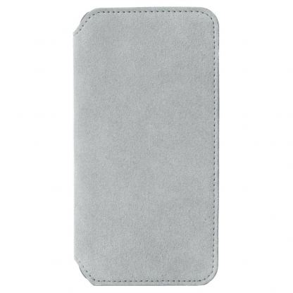 Krusell Broby 4 Card Slim Wallet Case - велурен калъф, тип портфейл за iPhone XS (сив) 4