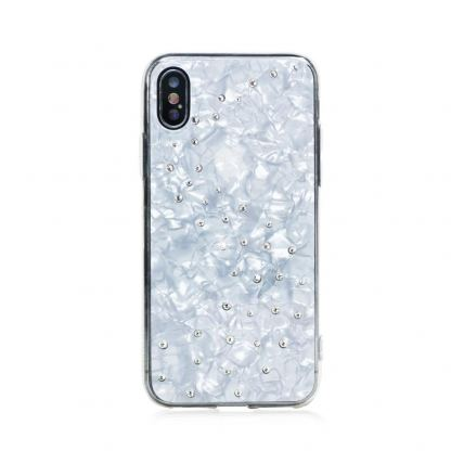 Bling My Thing Milky Way TPU Pure Brilliance Swarovski - силиконов (TPU) калъф с кристали Сваровски за iPhone XS, iPhone X (бял) 3