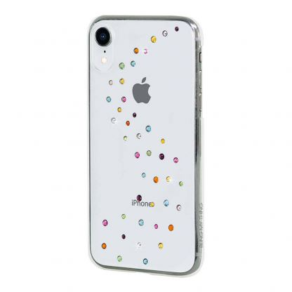 Bling My Thing Milky Way Cotton Candy Swarovski - поликарбонатов кейс с кристали Сваровски за iPhone XR (прозрачен) 3