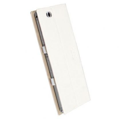 Krusell Malmo Tablet Case - кожен кейс и поставка за Sony Xperia Z Ultra (бял) 2