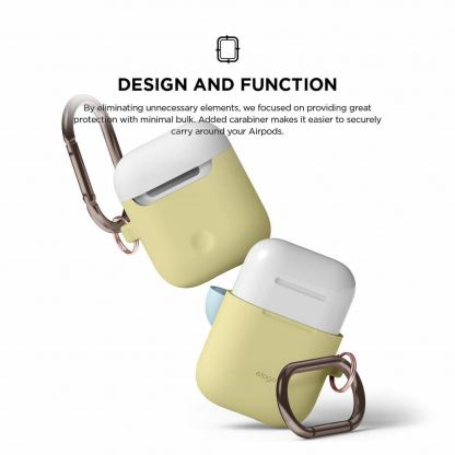Elago Duo Hang Silicone Case - силиконов калъф за Apple Airpods (жълт) 4